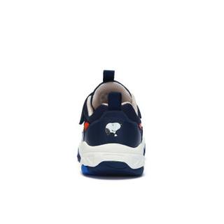 史努比(SNOOPY)童鞋男童运动鞋 防滑透气男童鞋休闲鞋子 S913A2719深藏青32