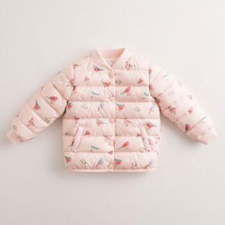 马克珍妮MARC&JANIE 冬装男女童超轻羽绒外套 宝宝羽绒服82930 花与鸟 18M(建议身高73cm)