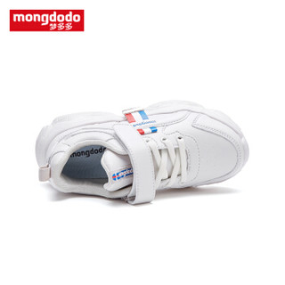 巴拉巴拉旗下梦多多mongdodo童装儿童旅游鞋2019新款中大童运动鞋79204192157白色调35