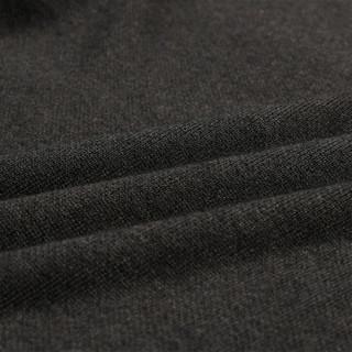 花花公子(PLAYBOY)羊毛衫男2019秋冬新款纯色时尚圆领羊毛针织衫 黑色 170