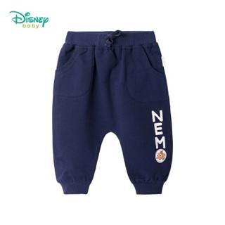 迪士尼(Disney)童装男童裤子2019春秋新款海底总动员外出哈伦裤193K917藏青12个月/身高80cm