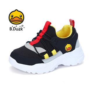 小黄鸭(B.Duck)童鞋男童运动鞋 儿童跑步鞋休闲潮鞋 B308A3001黑色28