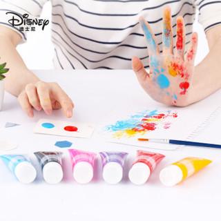 迪士尼(disney)儿童可水洗颜料6色手指画工具套装绘画画文具涂鸦颜料  苏菲亚DM20847S