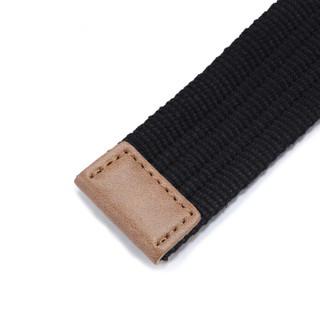MAXVIVI 腰带男 韩版女士双环帆布腰带男士休闲裤帆布皮带 潮款双环D型扣青少年裤腰带 MPD913250 黑色