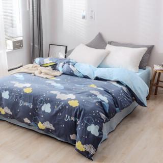 PLAYBOY 全棉高支床品套件 双人纯棉四件套床单被罩 1.5米/1.8米床 被套200*230cm美妙眷恋