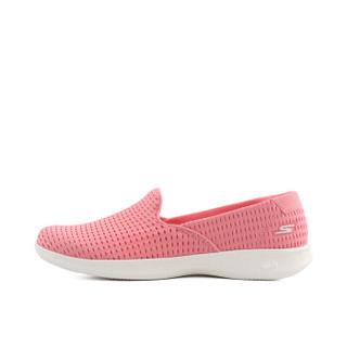 斯凯奇(Skechers)女款一脚套懒人平底健步时尚休闲鞋 14497 粉红色 39