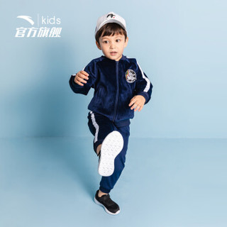 安踏(ANTA)官方旗舰店 儿童男童小童装针织透气运动套装3~6岁A35919796 浊普蓝-2/120