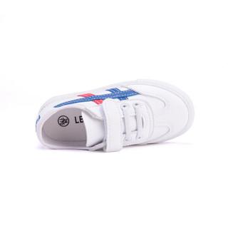 蜡笔小新 儿童鞋男童运动鞋女童小白鞋低帮学生板鞋小孩子休闲波鞋S-111 白蓝 33