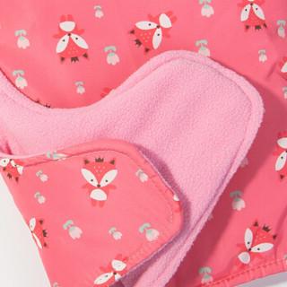 kk树kocotree宝宝帽子冬季男女童护耳防风可拆卸口罩儿童帽子加绒一体帽 满版单帽 粉色 S