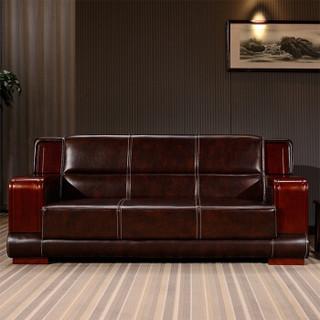 佐盛办公沙发会客沙发接待沙发经典商务沙发组合三人位 zs-11