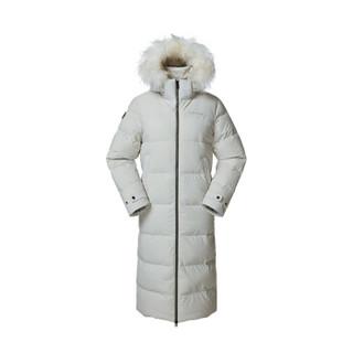 LAFUMA乐飞叶 女士修身过膝加厚保暖鸭绒羽绒服女长款 LFJU8D427 象牙白IV 40(170/88A)