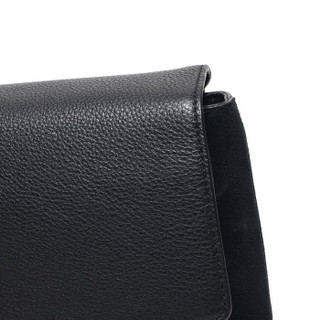 TORY BURCH 托里·伯奇 奢侈品 TB女包 KIRA系列黑色皮革手提单肩斜挎包 56382 001