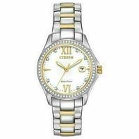 CITIZEN ECO fe1144-85b 双色调 30mm 女士不锈钢防水手表