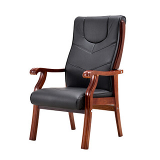 欧宝美老板椅经理椅实木办公椅会议椅电脑椅子大班椅皮座椅