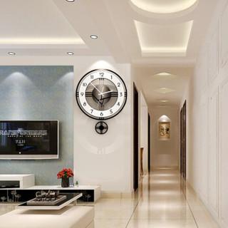 美世达(MEISD)极简北欧钟表挂钟客厅创意表挂墙现代简约石英钟时尚大气静音家用艺术钟 大号:40*50cm