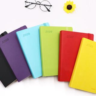 前通(front)2020年历本日程本 A5记事本创意计划日历表 商务办公手账日记本 NL20-A501紫色