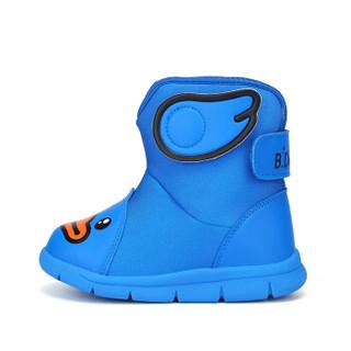 小黄鸭(B.Duck)童鞋男童雪地靴 冬季新款儿童棉靴女加绒保暖潮鞋 B5983904彩兰29