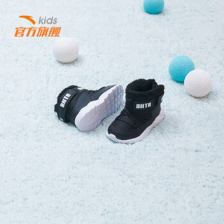 安踏(ANTA)官方旗舰店儿童童鞋男婴童2019冬季新款保暖棉鞋A33840042黑/安踏白-1/25