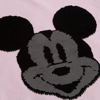 迪士尼 DISNEY 毛圈少儿男童女童圆领长袖卫衣 2D079A0 嫩粉 140