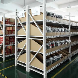 易存轻型货架仓储家用层架收纳架子置物架储物架白色100*50*180四层主架