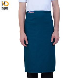 耐典 男女酒店厨房餐厅半截围腰防污家用半身围裙 ND-YL生态厨房 黄色 均码