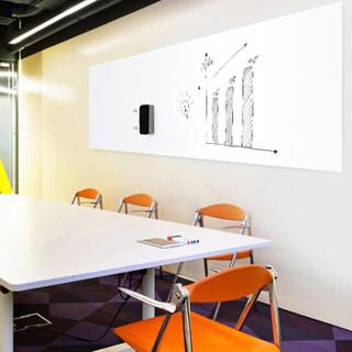 晨色 200*90cm 软磁铁自粘白板 办公教学会议挂式白板悬挂墙贴写字板黑板带背胶 CS2067