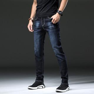 鳄鱼恤(CROCODILE)牛仔裤男 2019新款男士商务休闲裤牛仔长裤韩版修身百搭裤 B235-1835 黑色 28