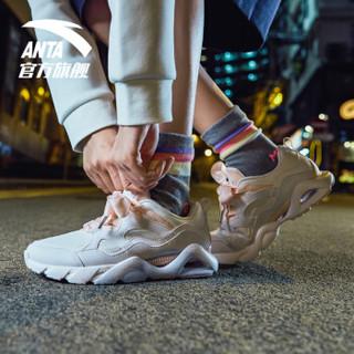 安踏 ANTA 92838888官方旗舰女鞋蝴蝶结休闲鞋潮流小白鞋老爹鞋运动鞋女 安踏白/婴儿粉-2 5(女35.5)
