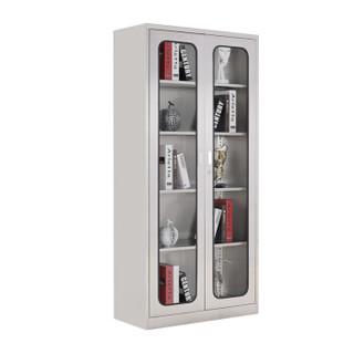 锐达星钢制档案资料存放柜办公储物文件柜通玻对开门柜304不锈钢铁皮柜