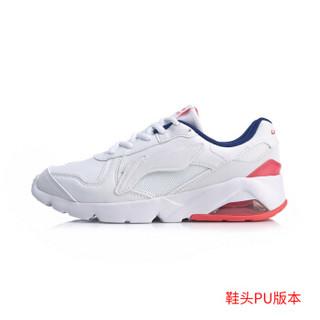 李宁 LI-NING 男子轻便经典休闲鞋AGCP093-5 标准白/深宝蓝/赤樱红-5 43