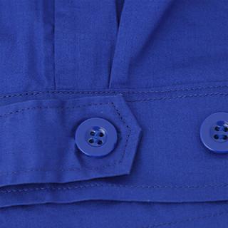劳博士 LABORS LBS814 短袖纯棉工作服 男女车间工服 厂服 汽修工程服 半袖劳保服 (艳兰套装 160/S)