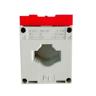德力西电流互感器LMK-0.66 200/5 Φ40导轨式低压电流互感器