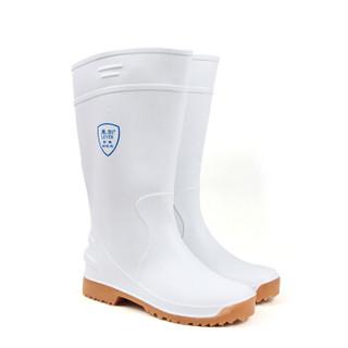莱尔SF-11-03 食品使用靴 防水 耐酸碱靴 抗油抗腐蚀靴子 白色化工靴45码
