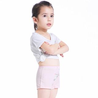 馨颂 女童内裤卡通精梳棉儿童平角内裤三件装 可爱猫咪 130