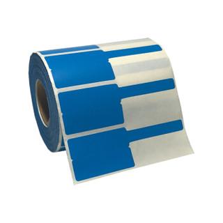 威标  Q-03F-500BL 线缆标签、 30*45+50mm、500张/卷 蓝色、