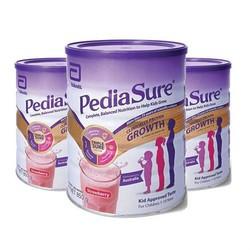 PediaSure 雅培 小安素系列 儿童营养奶昔粉 草莓味 850g*3罐(1-10岁)