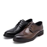 BELLE 百丽 商务正装皮鞋 13965CM9 棕色 41