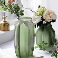 常青藤 北欧彩色玻璃花瓶 磨砂大号