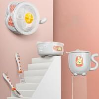 babycare辅食碗 儿童餐具 宝宝防摔碗吸盘碗辅食碗勺套装
