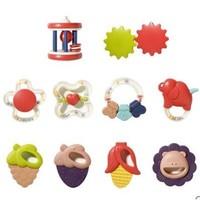 纽乐 婴儿手摇铃宝宝玩具 8件套