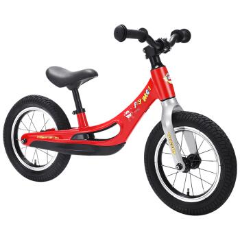 超級飛俠兒童平衡車滑步車2-3-9歲寶寶玩具溜溜車滑行學步車扭扭車小孩單車兩輪無腳踏自行車童車 紅色