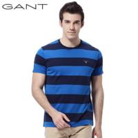GANT 甘特 234133 男士圆领条纹短袖T恤