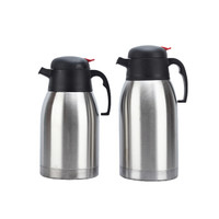 瓦图 WATU 水具 不锈钢保温壶 1.5L 大容量酒店餐厅办公室咖啡壶暖壶 送备用壶盖  2个装