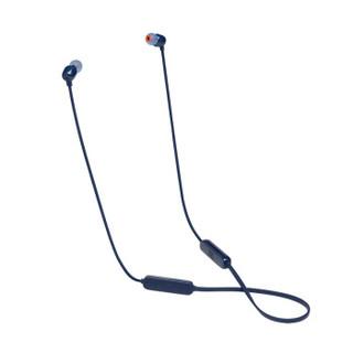 JBL 杰宝 JBL TUNE 115BT 入耳式耳机 无线蓝牙耳机 运动耳机 颈挂式耳机 带麦可通话 苹果安卓通用 蓝色