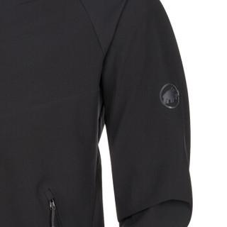 猛犸象 Mammut男士防风防泼水修身连帽软壳夹克1011-00790黑色XL