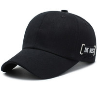 北诺(BETONORAY)帽子男韩版潮时尚棒球帽女休闲简约鸭舌帽街头嘻哈帽 黑色