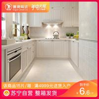 鹰牌陶瓷 厨房地砖 卫生间防滑地砖 厨卫砖 瓷砖300 300 岁月魔方