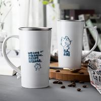 浩雅马克杯304不锈钢水杯 250ml双层隔热杯子 耐摔牛奶咖啡杯KL190 *3件