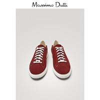 Massimo Dutti 男鞋紫红色绒面皮运动鞋