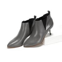 Daphne/达芙妮冬季切尔西靴保暖女靴冬靴休闲雪地靴马丁靴女靴子